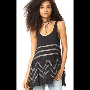 Free People Voile & Lace Trapeze Tank $88 msrp